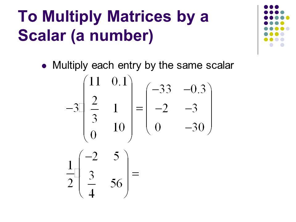 Matrices IB Mathematics SL. Matrices Describing Matrices Adding ...