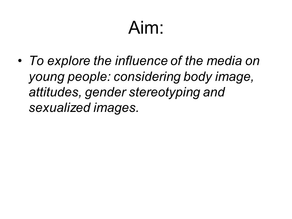 "the influence of media on body We've long understood that movies, magazines and television damage teens' body image by enforcing a ""thin ideal"" less known is the impact of social media on body confidence."