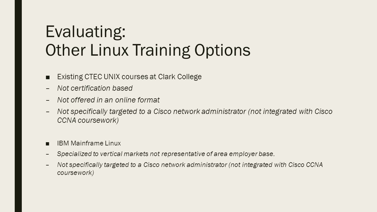 Linux admin certification part of the cisco aat degree draft 4 evaluating xflitez Gallery
