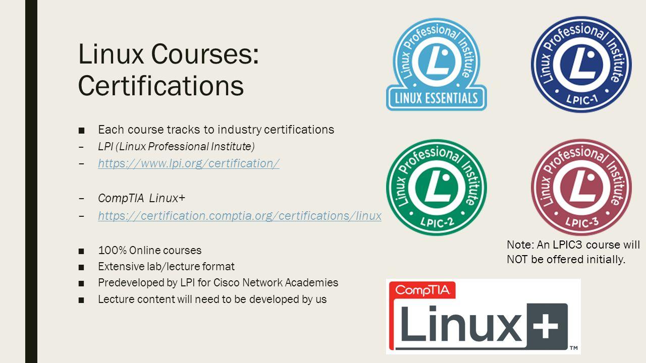 Linux admin certification part of the cisco aat degree draft 7 linux courses certifications xflitez Choice Image