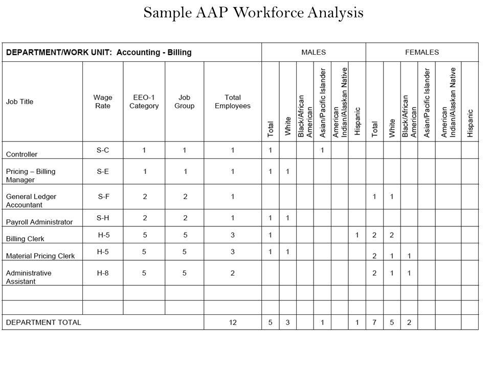 Sample Affirmative Action Plan Sample Affirmative Action Plan
