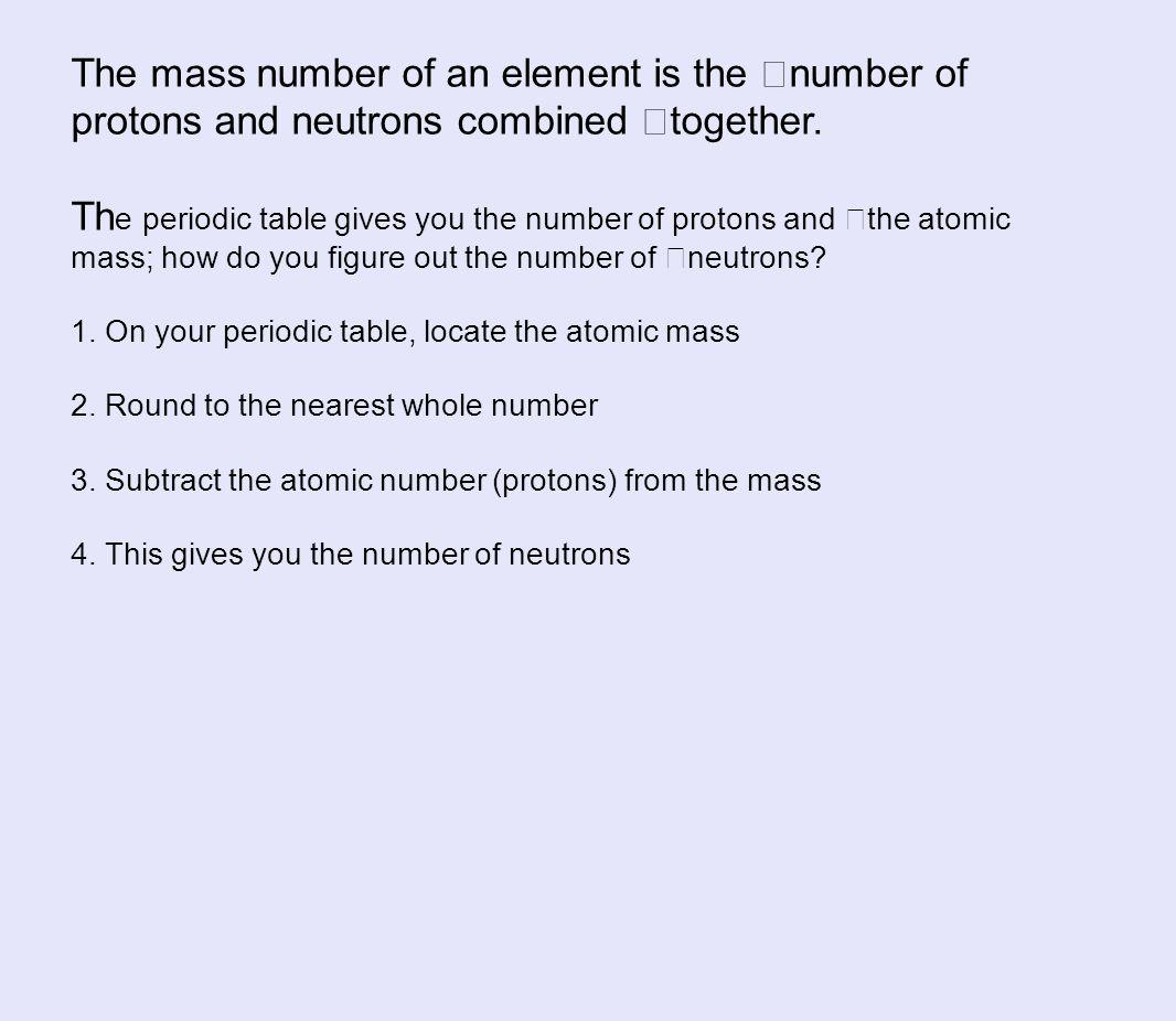 Atomic Structure atomic number atomic mass elemental symbol ppt