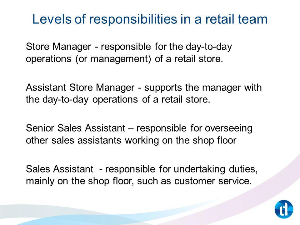 main responsibilities of a sales assistant