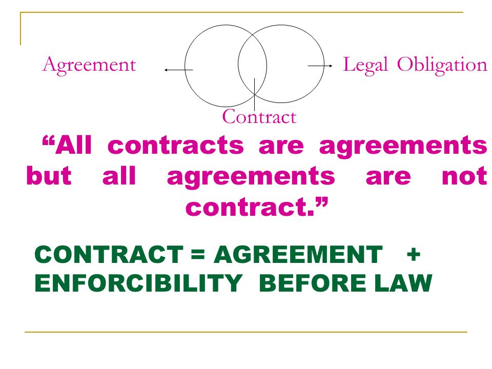 1 the indian contract act what is law law means a set of rules 8 agreement legal obligation contract all contracts are agreements but all agreements are not platinumwayz