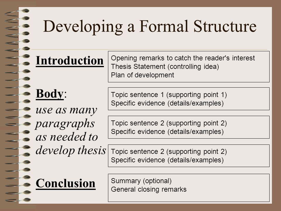 develop thesis speech