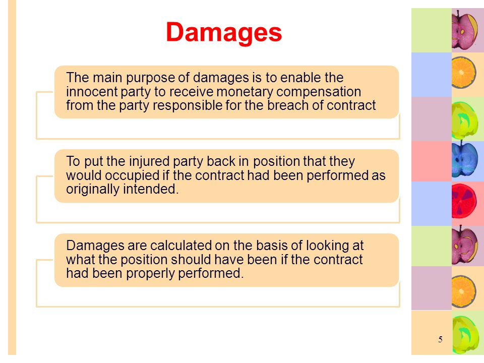 Remedies For Breach Of Contract 1. Meaning Of Remedy Is The Method