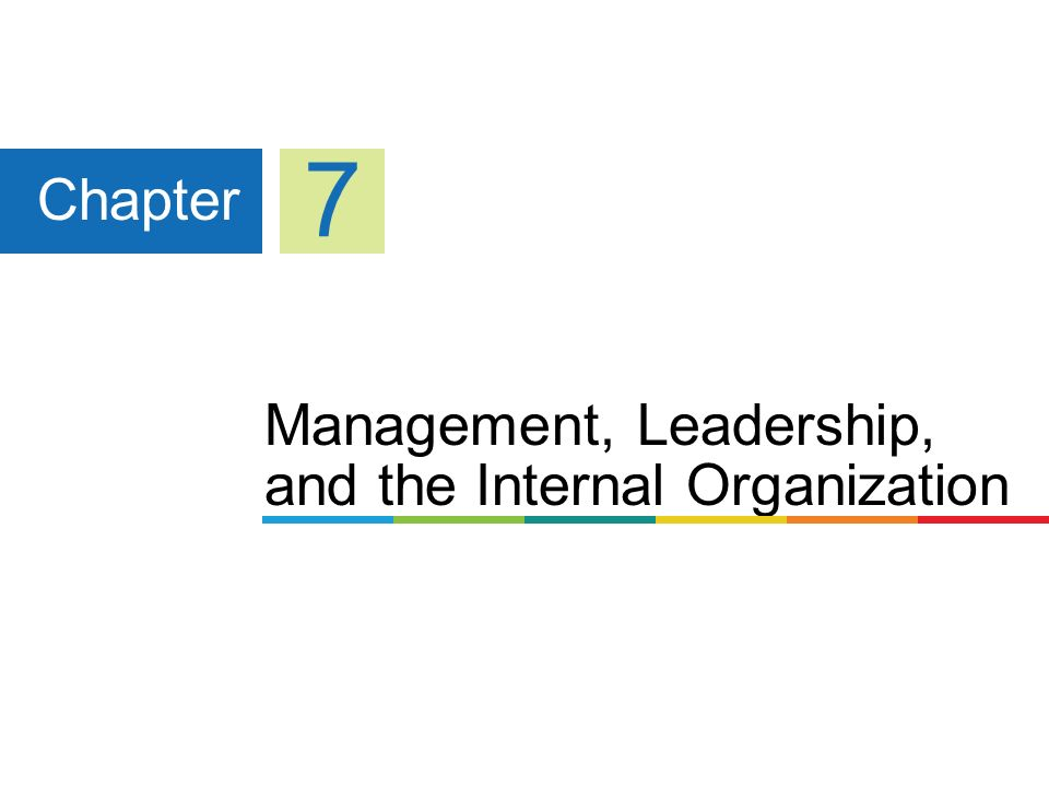 Management, Leadership, and the Internal Organization Chapter 7