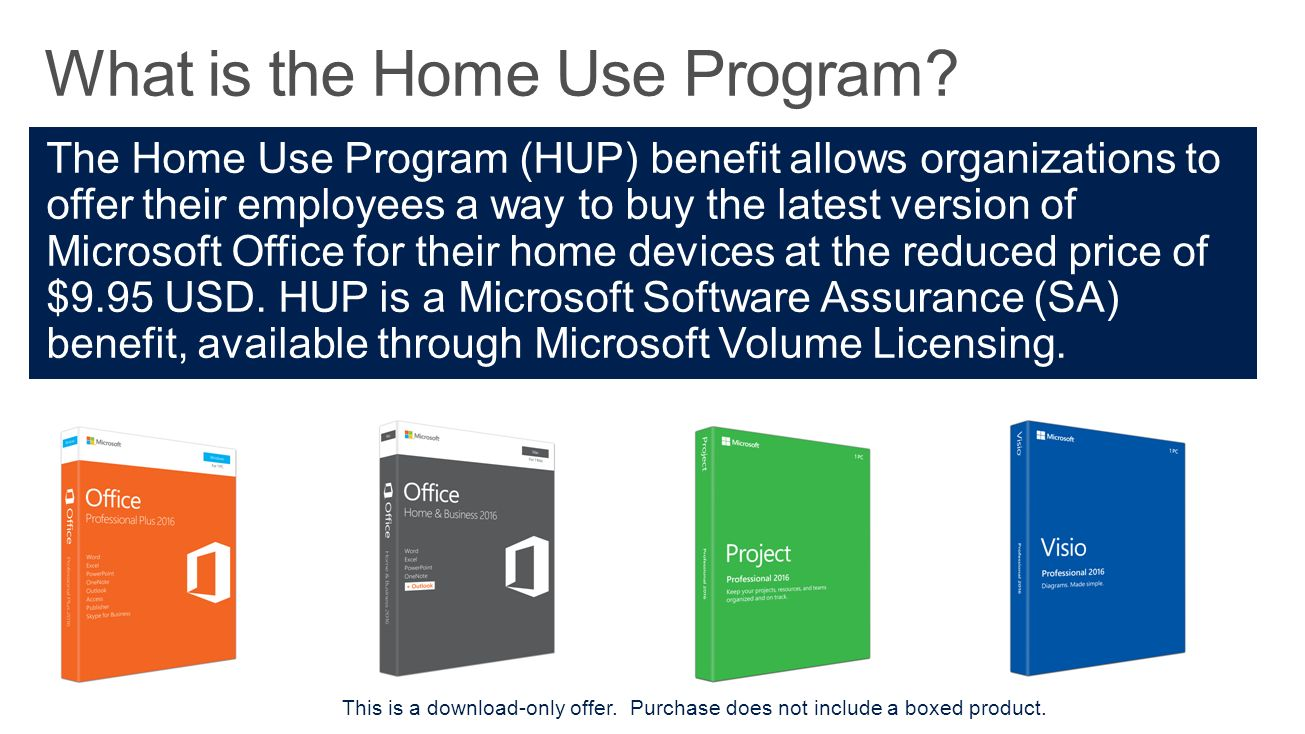 what is the home use program - Microsoft Visio Home Use Program