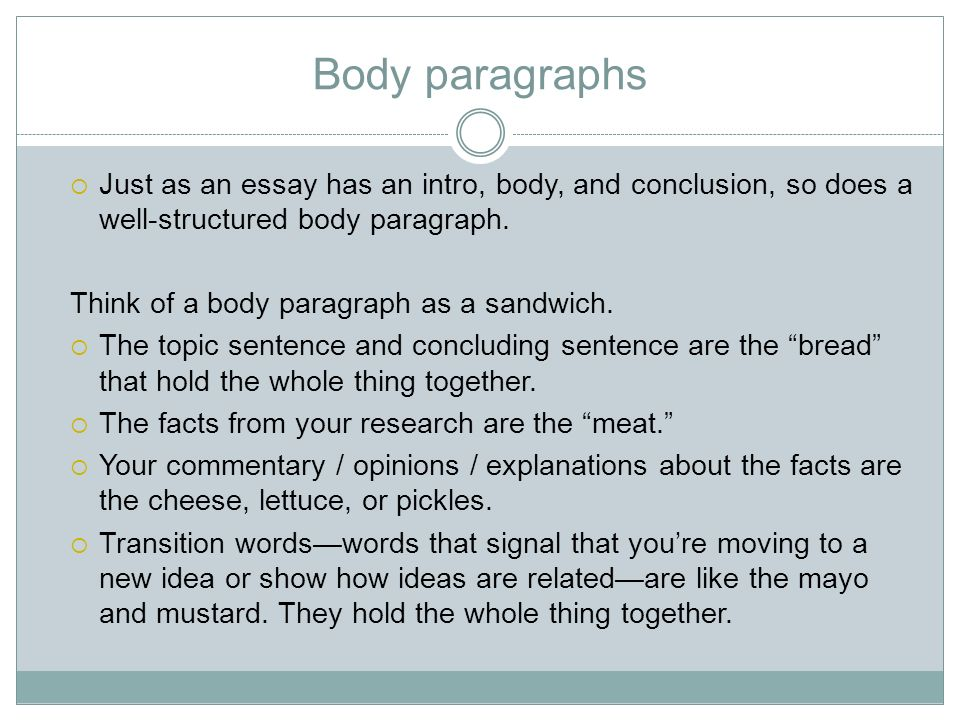 two different paths to the same goal organizing a compare  just as an essay has an intro body and conclusion so does