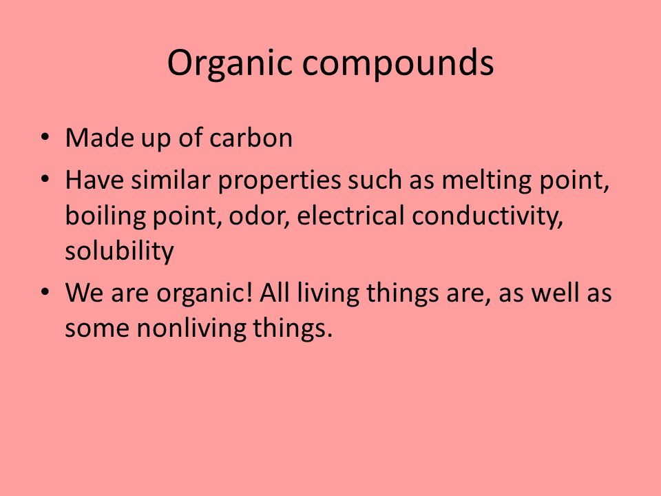 electrical conductivity organic compounds