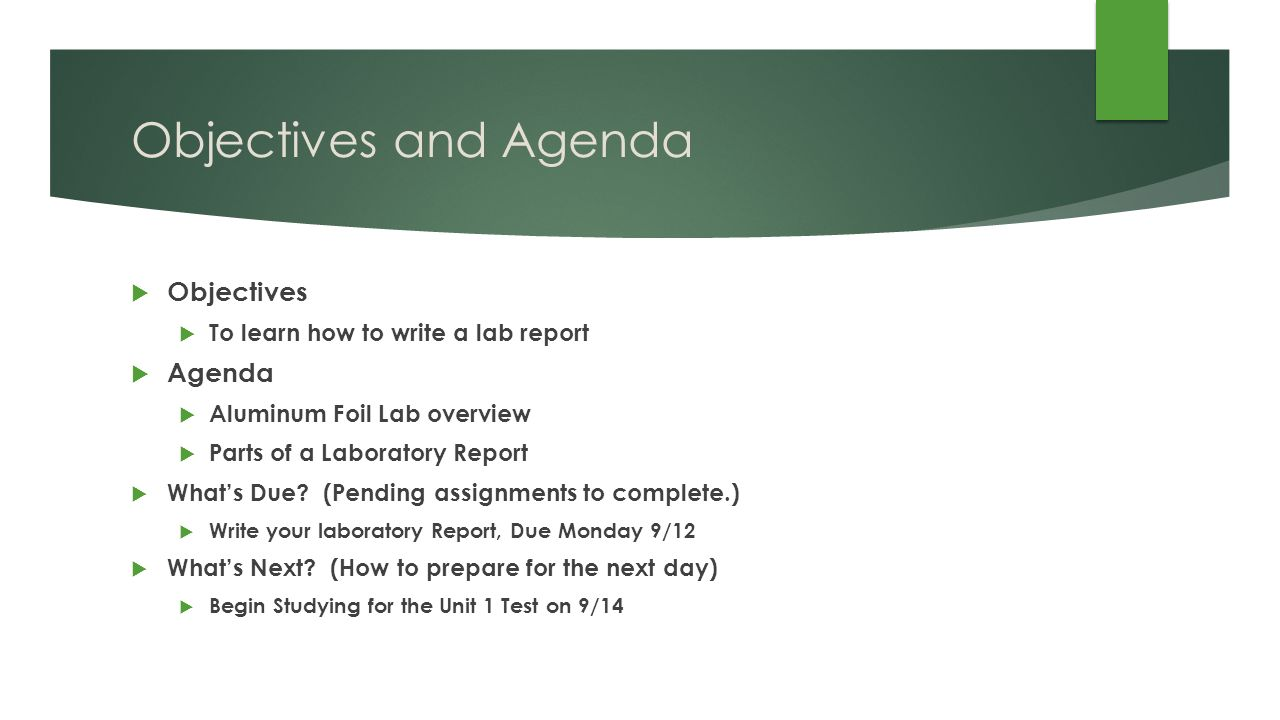 how to write a chemistry lab report A laboratory report can be used for several purposes a company may create its product strategy based on the report findings how to write a lab report.