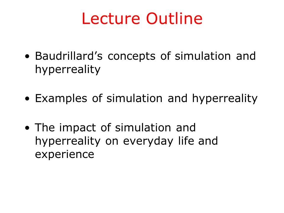 simulacra and simulation thesis All posts must develop and defend a substantive philosophical thesis a 1981 philosophical treatise by jean baudrillard simulacra and simulation was.