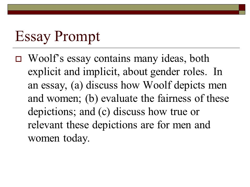 woolfs technique essay The techniques to which mrs woolf mainly employs are interior monologue and free association 2 interior monologue 21 interior monologue defined interior monologue is a term that is most often confused with stream-of-consciousness it is used more accurately than the latter, since it is a rhetorical term and properly refers to a literary.