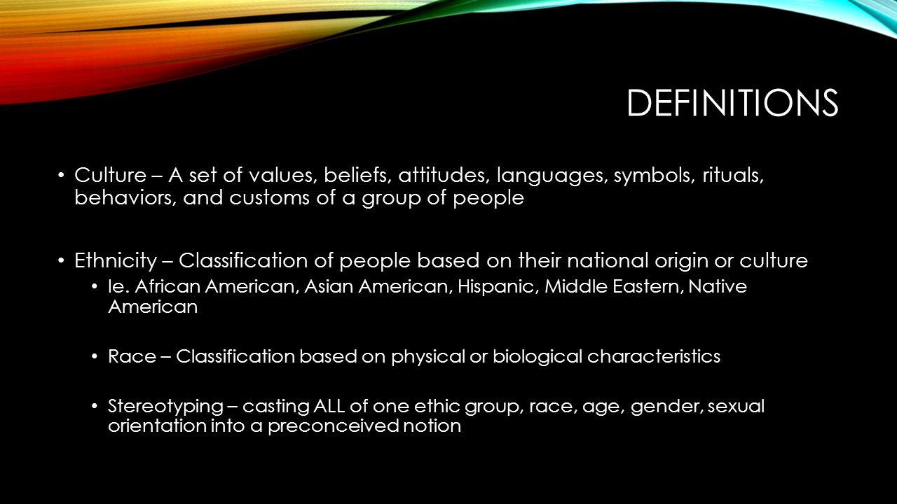 Cultural diversity in healthcare definitions culture a set of definitions culture a set of values beliefs attitudes languages symbols buycottarizona Image collections