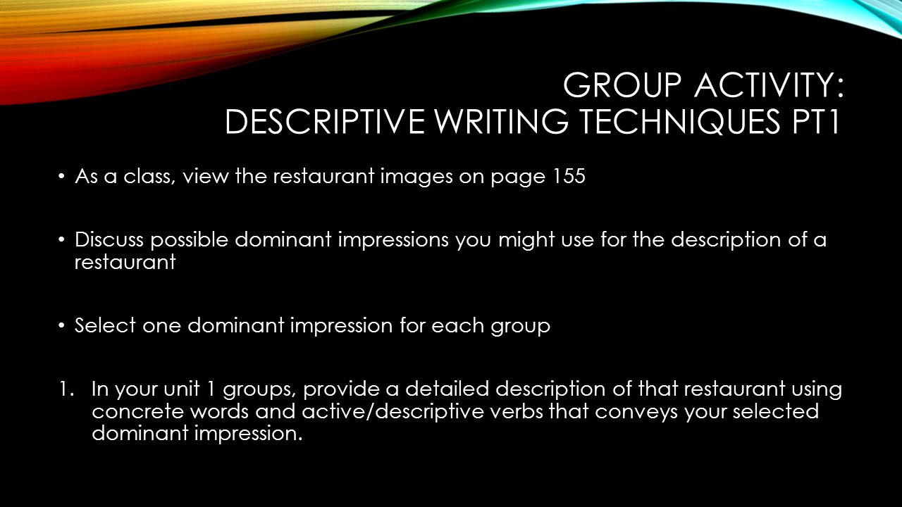 descriptive essay about a favorite restaurant Descriptive essays can be the easiest here is some bits of advice and a nice long list of 100 great descriptive essay topics to help a favorite place a train.