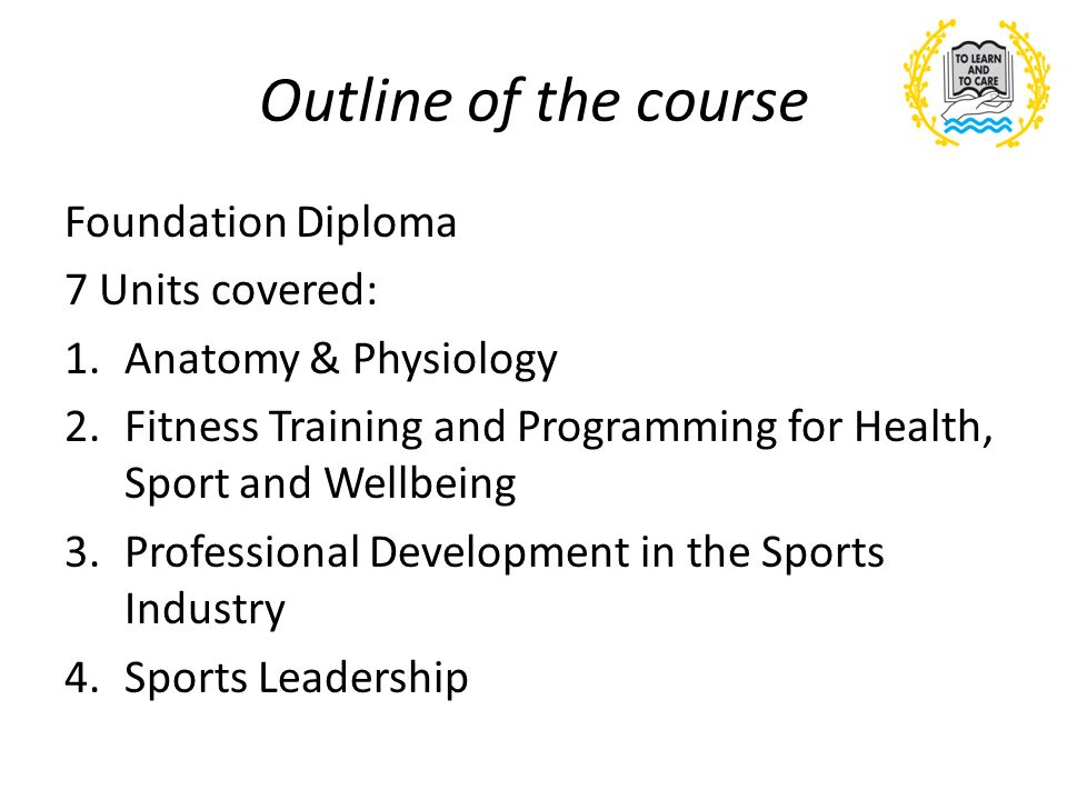 BTEC Sport Induction 28 th June Outline of the course Foundation ...