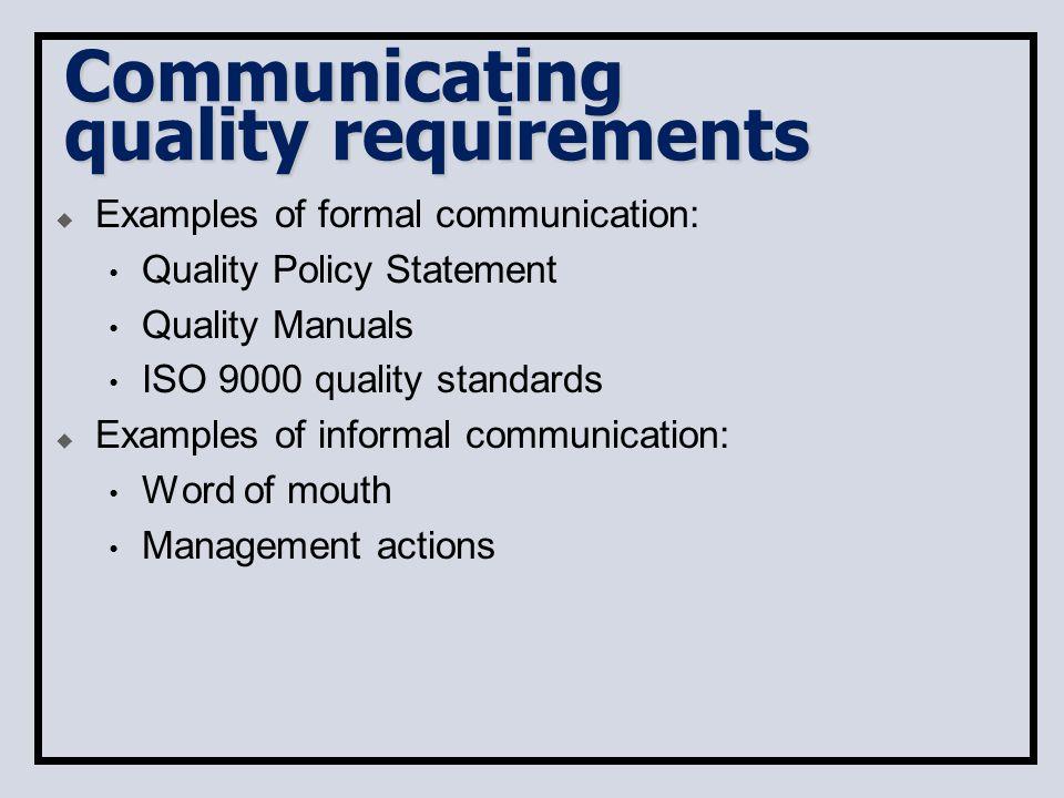 examples informal communication