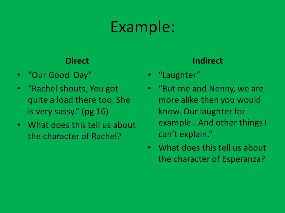 Example Of Indirect Characterization Gallery Example Cover Letter