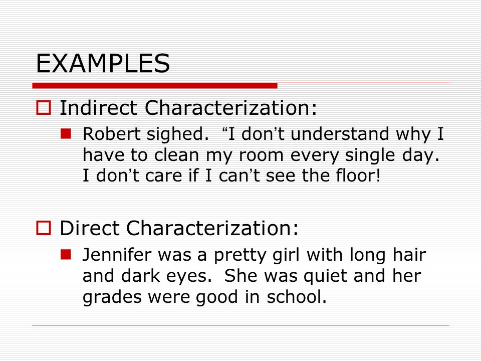 Indirect Characterization Examples Gallery Example Cover Letter
