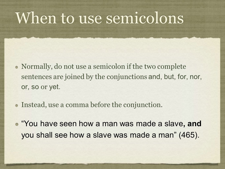 when to use a semicolon
