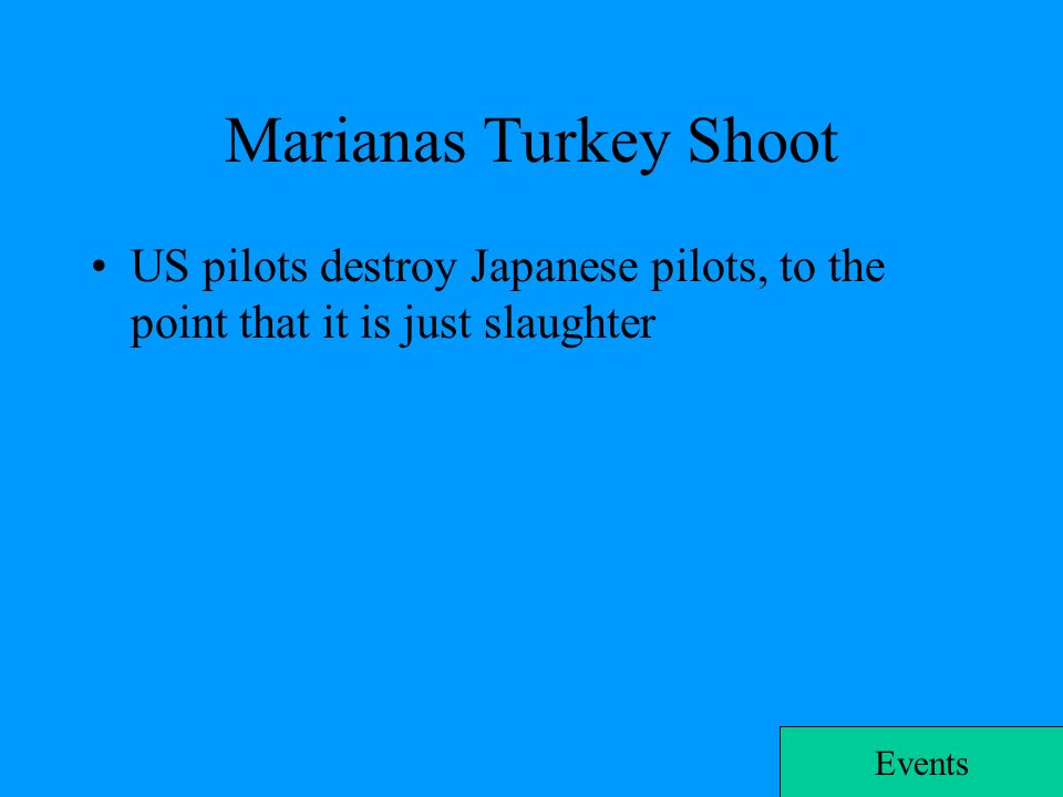 marianas turkey shoot