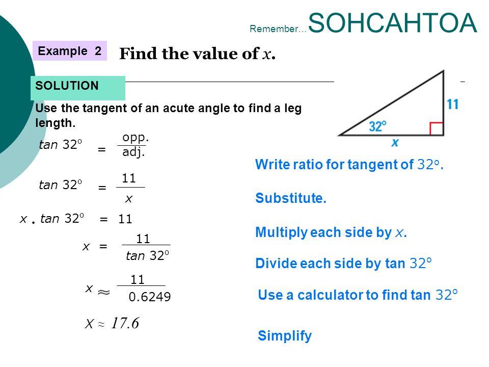 Trigonometric Ratios How do you use trig ratios? M2 Unit 2: Day ...