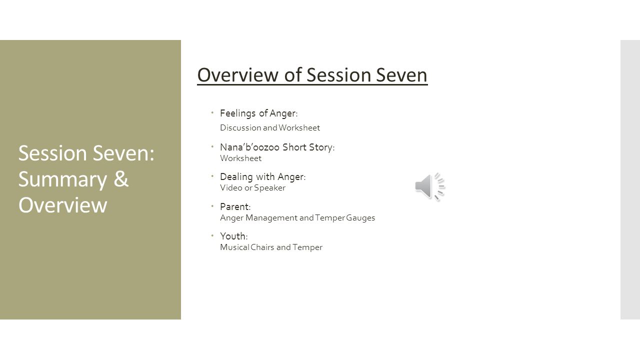 Session Seven Balance Total Time 2 Hours And 25 Minutes Ppt