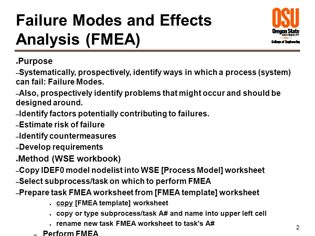 Failure Modes and Effects Analysis. 2 Failure Modes and Effects ...