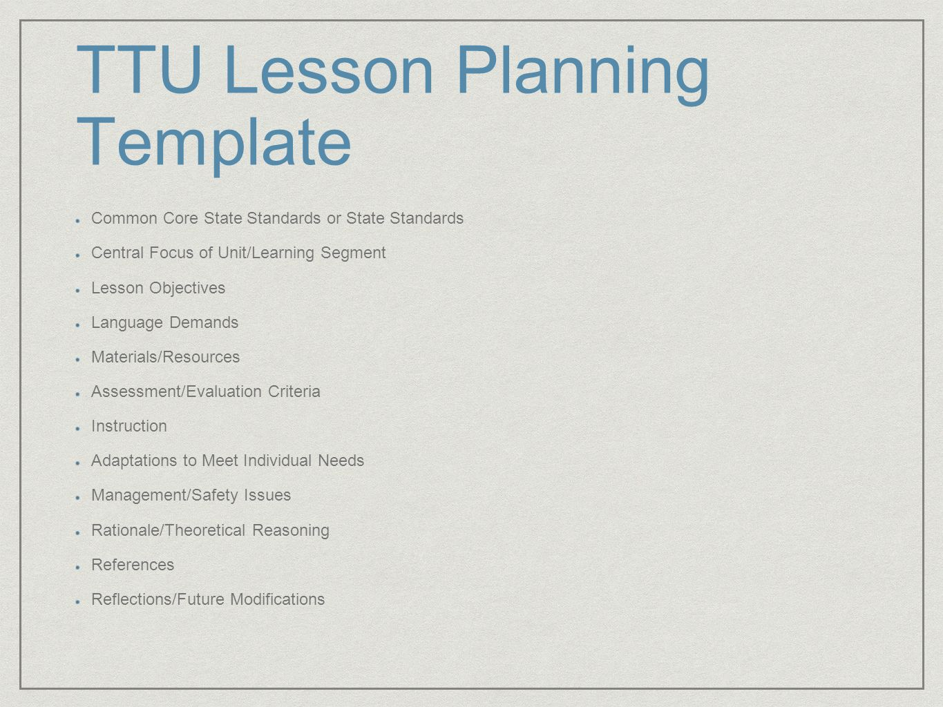 Formal lesson planning with edtpa and team integration dr leslie 6 ttu lesson planning template common core state standards pronofoot35fo Images