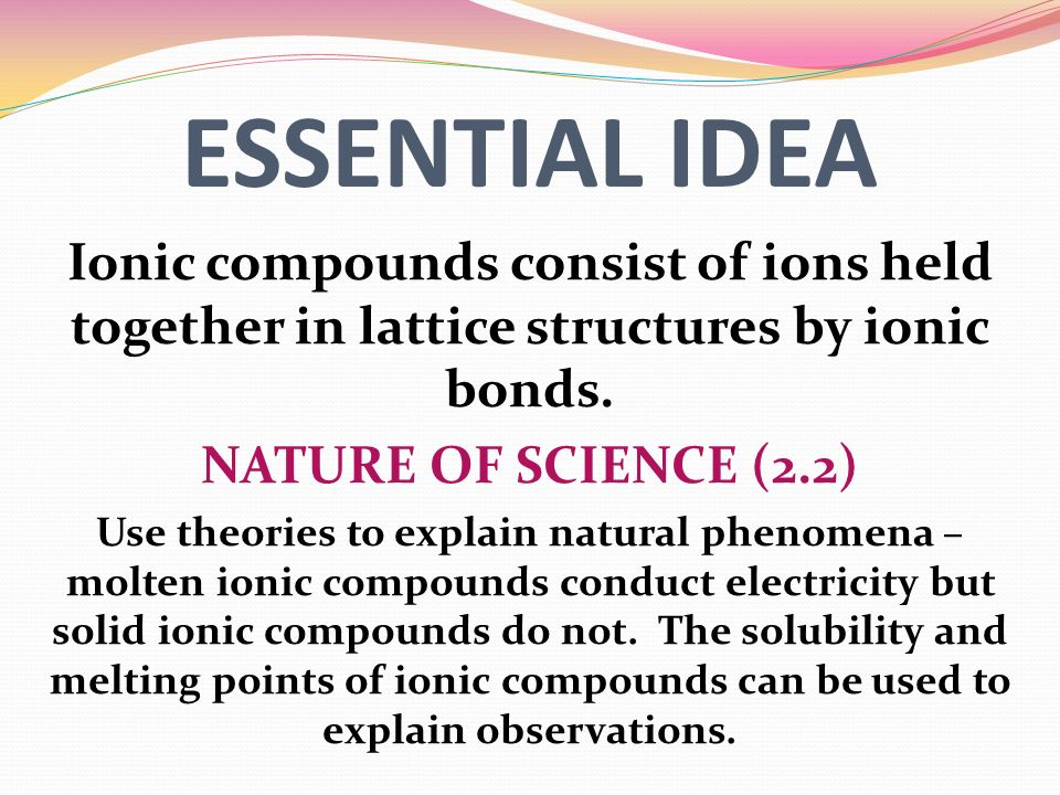 a better understanding of the uses of ionic compounds