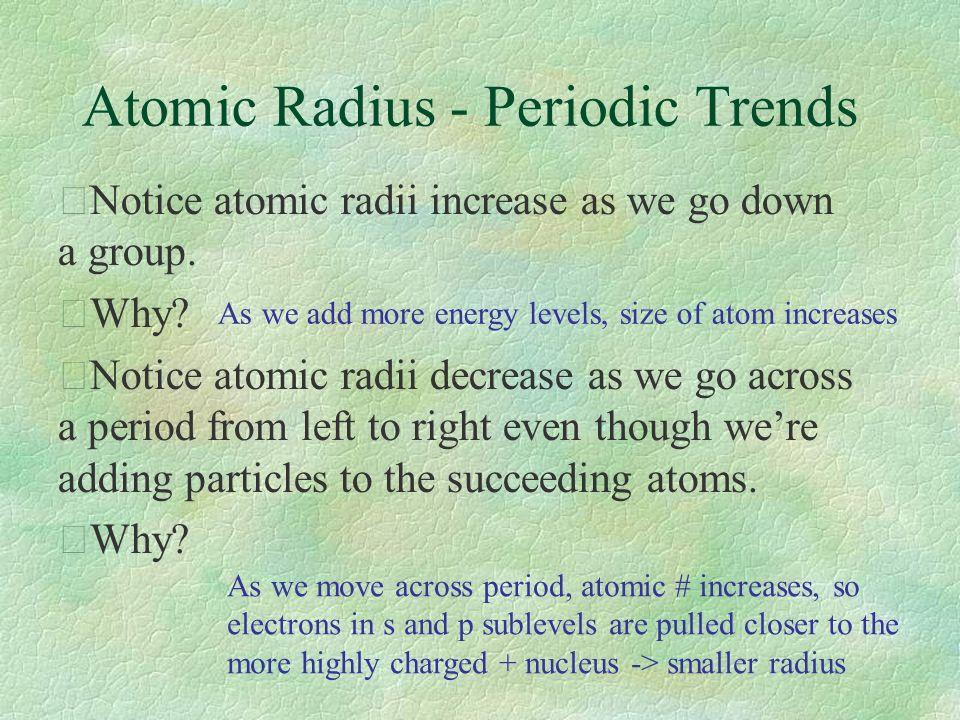 3 atomic radius periodic trends - Periodic Table Left To Right Atomic Radius