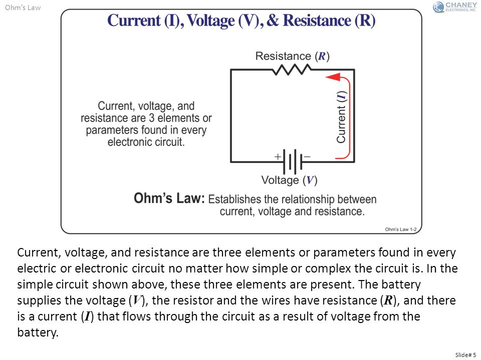 voltage and current law For series circuits  the resistance of the resistor and the current at the resistor the ohm's law equation can be used to measure current and voltage.