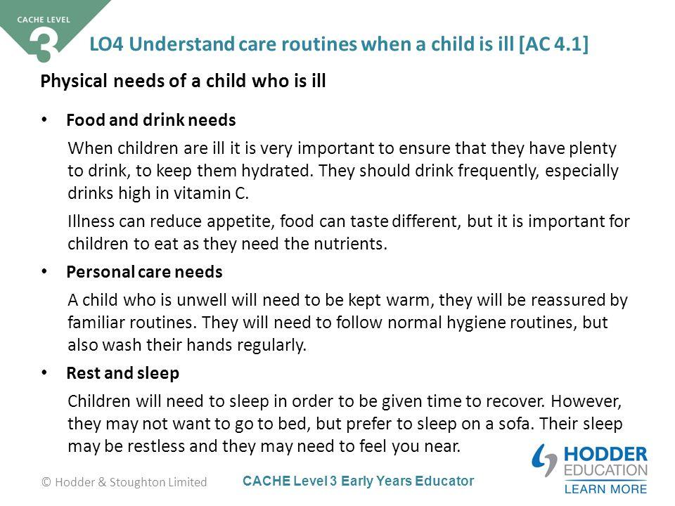 unit 7 cache level 3 childcare an education