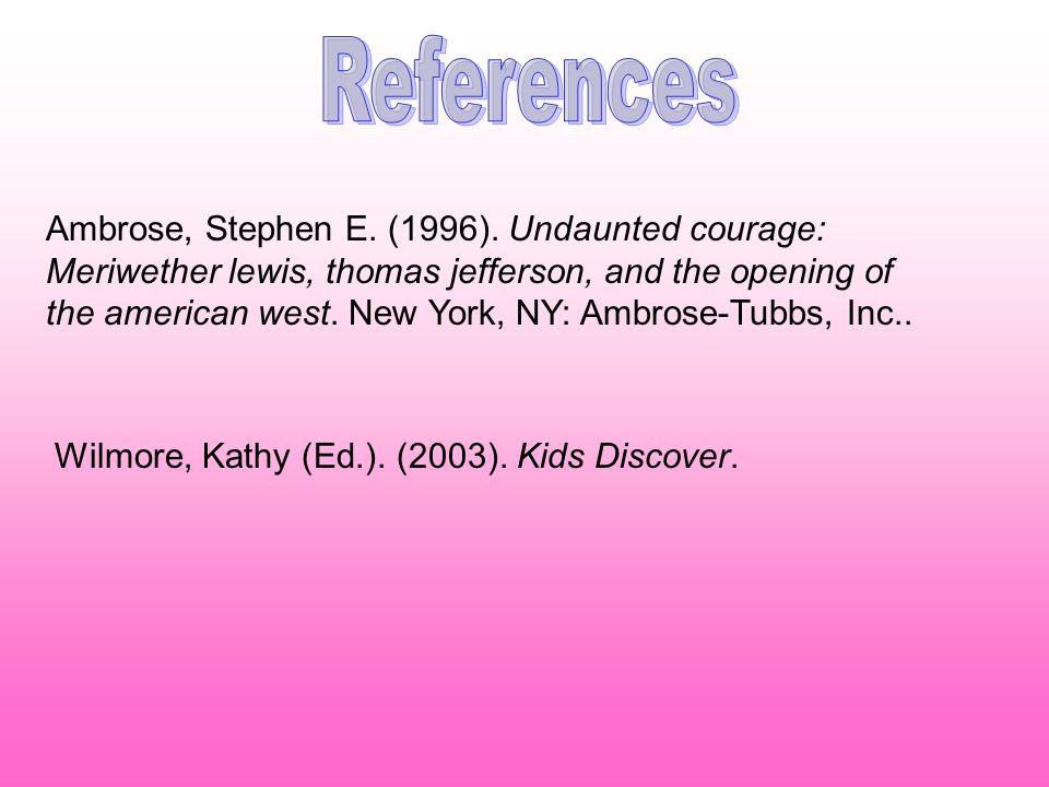 Ambrose, Stephen E. (1996).