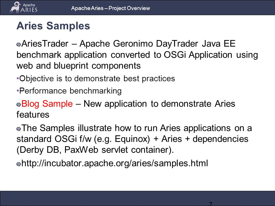 Apache aries an open source project for enterprise osgi 7 apache malvernweather Image collections