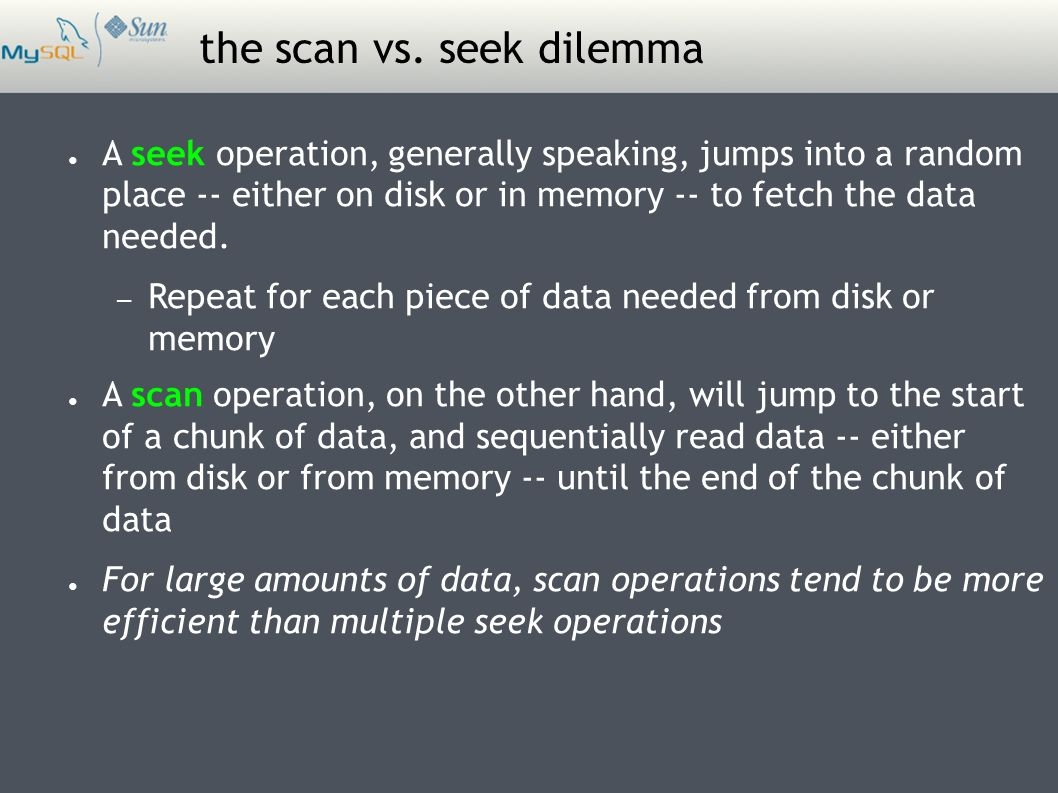 the scan vs.