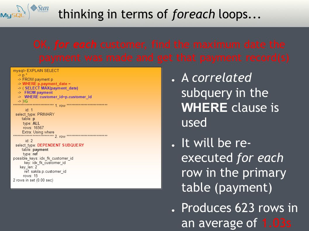 thinking in terms of foreach loops...