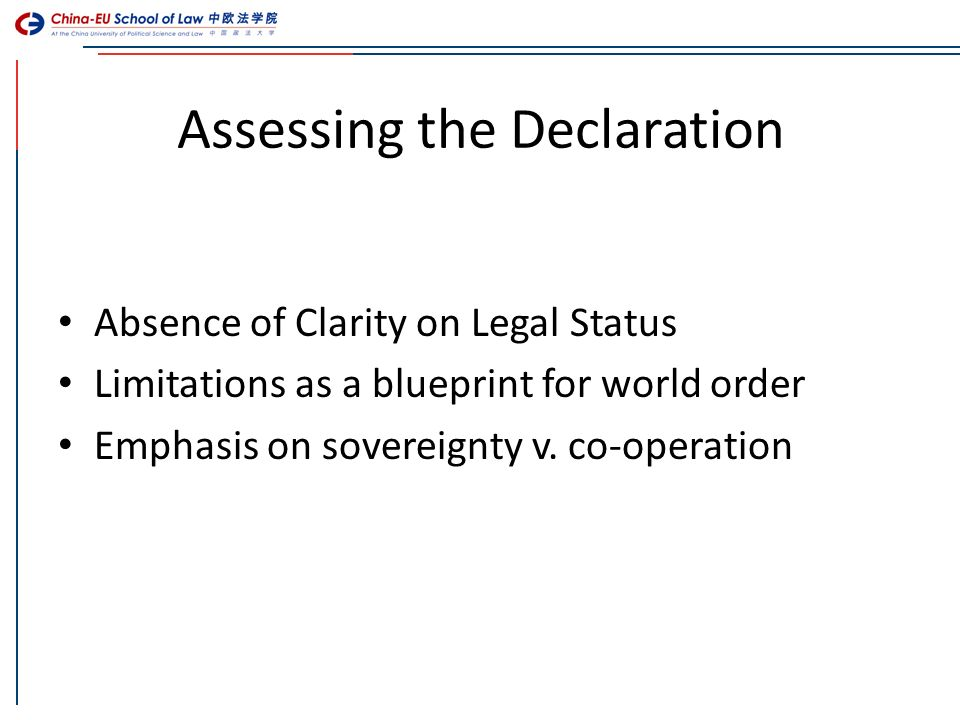 Slide cesl master in european and international law meil 1 legal assessing the declaration absence of clarity on legal status limitations as a blueprint for world order malvernweather Choice Image