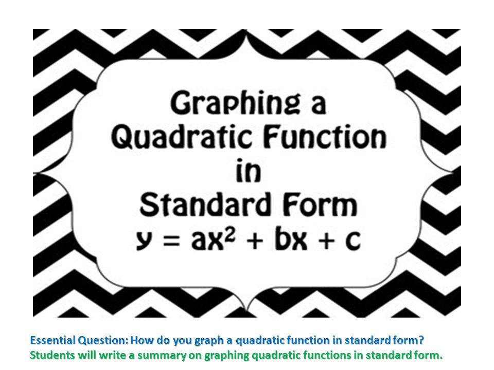 How To Write The Quadratic Function In Standard Form Essay Photo Time