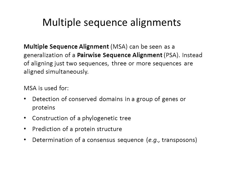 Multiple sequence alignment ppt video online download.