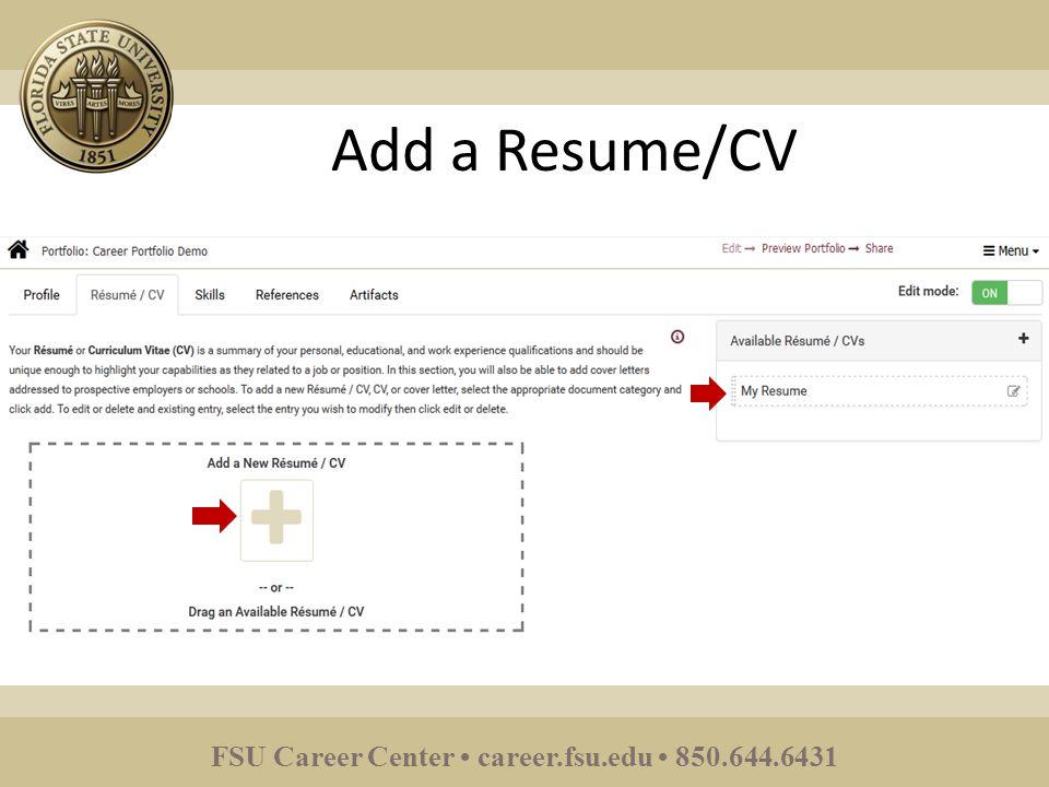 fsu career center career fsu edu upload a resume ppt download