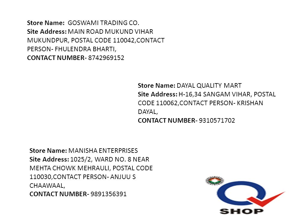 site contact number