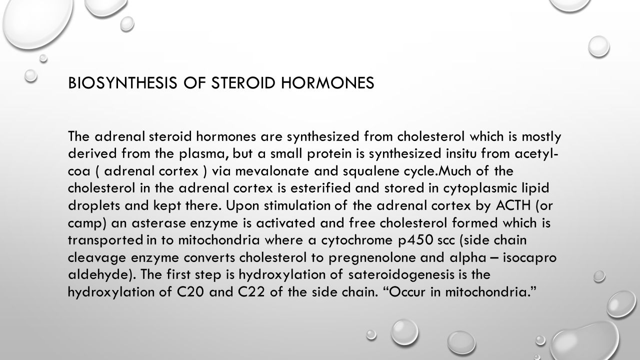 Steroid Hormones - The Medical Biochemistry Page