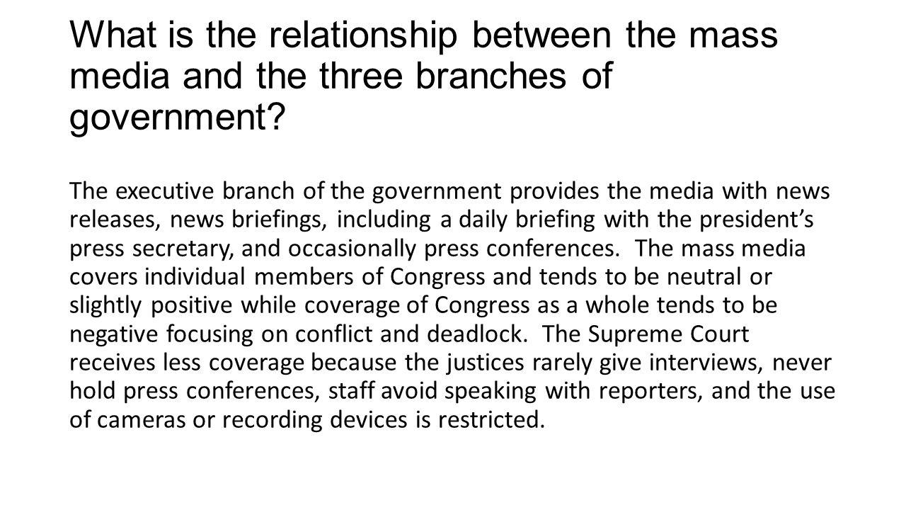 the relationship between media and politics