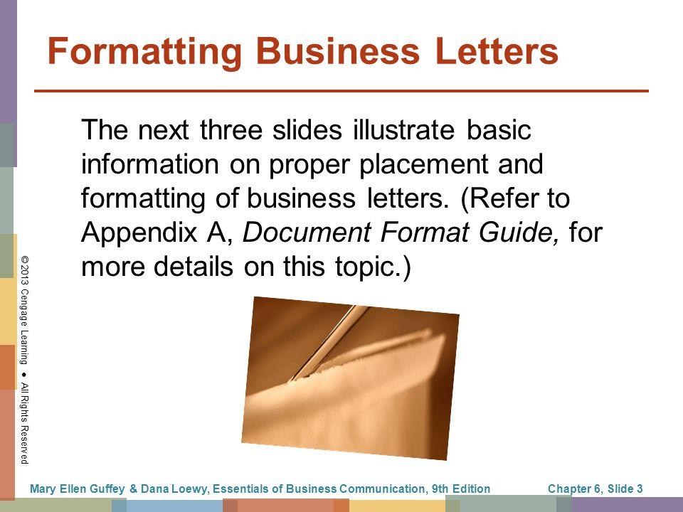 2013 cengage learning all rights reserved formatting business letters the next three slides illustrate. Resume Example. Resume CV Cover Letter