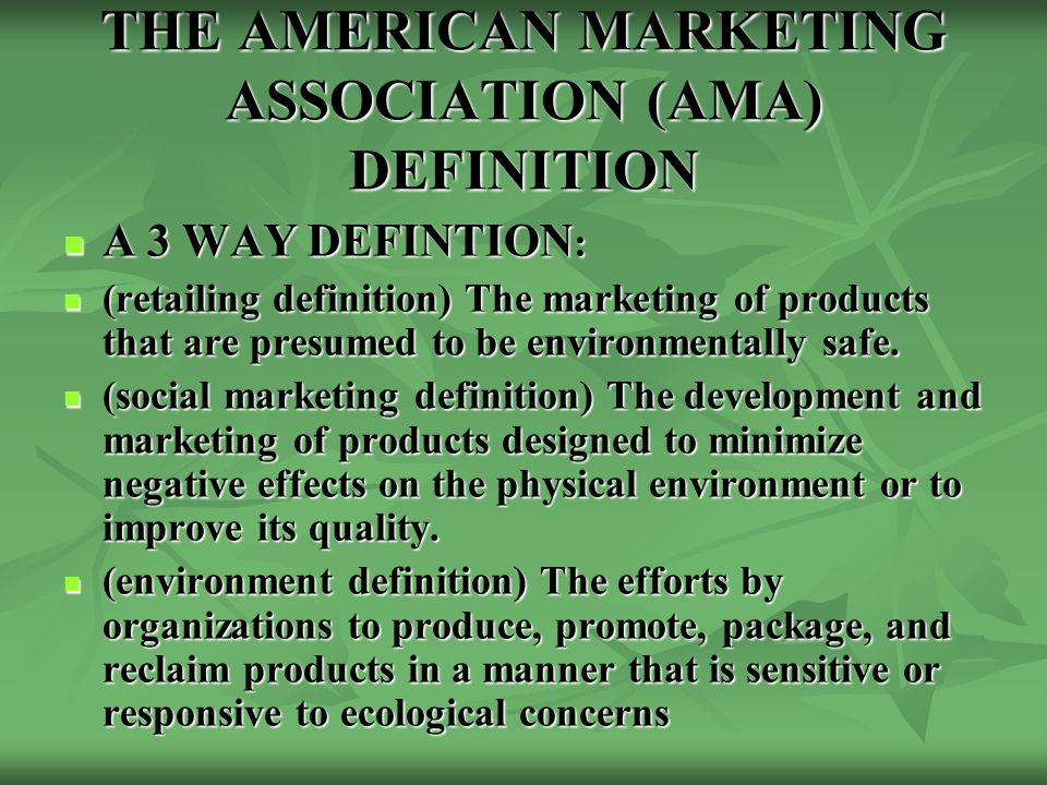 ama marketing and definition Definition of american marketing association – our online dictionary has american marketing association information from encyclopedia of business and finance, 2nd ed dictionary.