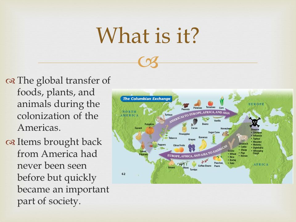 the columbian exchange and the colonization