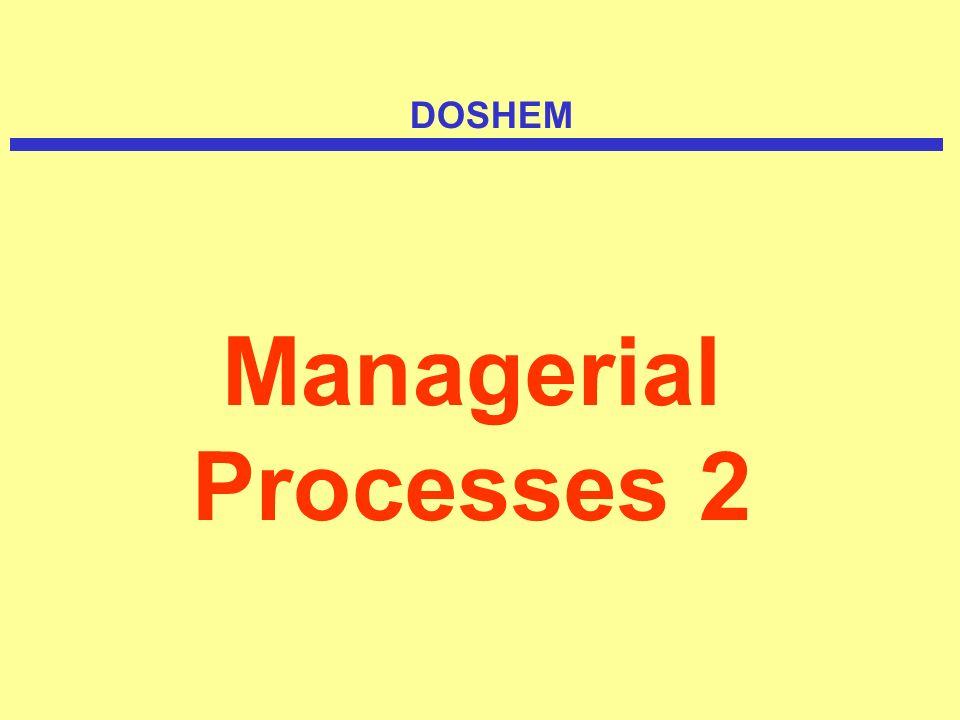 Managerial Processes 2 DOSHEM