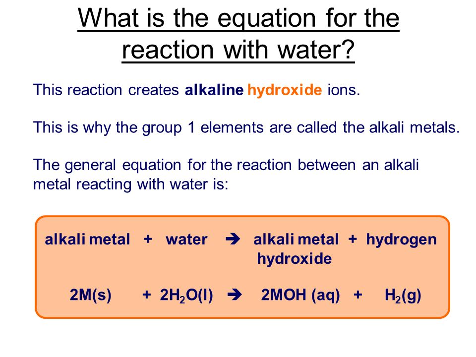 16 - Periodic Table Alkali Metals Reactivity
