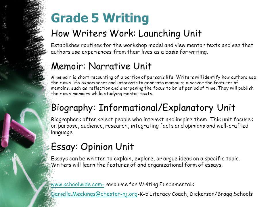 Common core memoir unit for 8th grade bomer writing memoir u201c array writing fundamentals slides for teachers to add to their rh slideplayer com fandeluxe Gallery